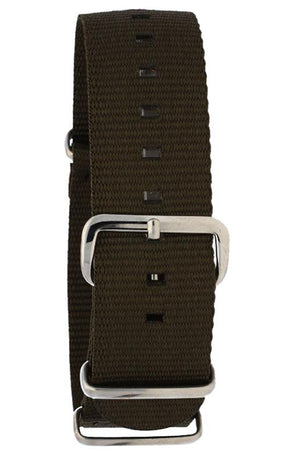 NATO Khaki Nylon Watch Band 20mm