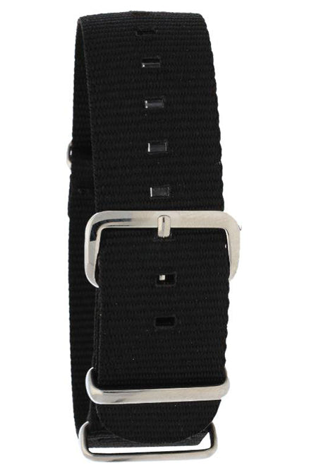 NATO Black Nylon Watch Band 20mm