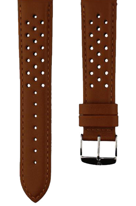 Rally Perforated Calfskin Honey Watch Band 20mm