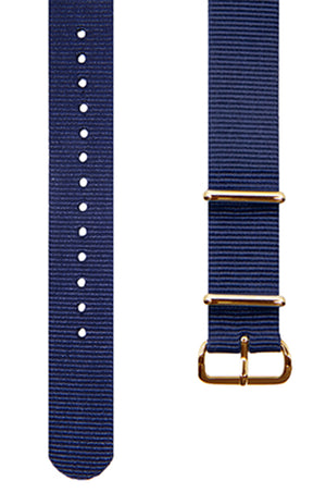Navy Blue NATO Dive Watch Band 19mm FREE