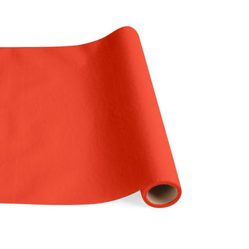 Paper Linen Solid Table Runner in Orange