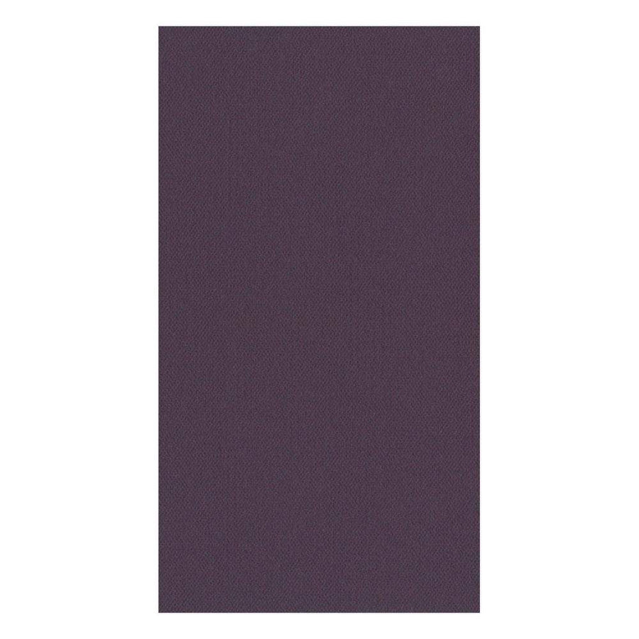 Paper Linen Solid Guest Towel Napkins in Aubergine - 12 Per Package