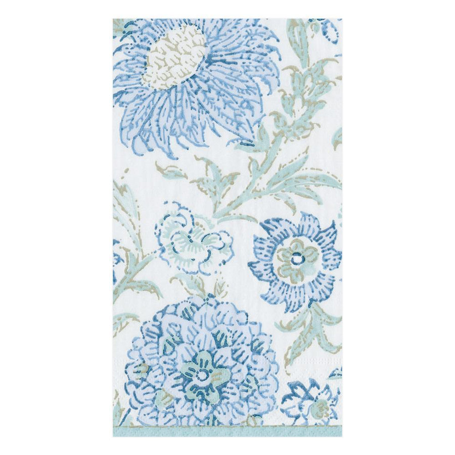 Indiennes Paper Guest Towel Napkins in Aqua - 15 Per Package