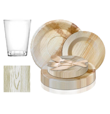 Upscale Round Wood Party Package