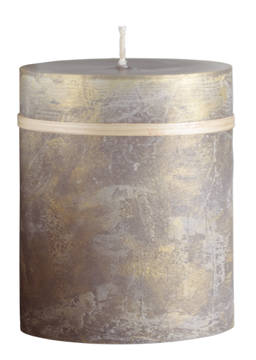Ritz Taupe and Gold Candle