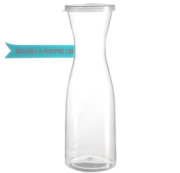Stemless 35 Oz Clear Pitcher W/Lid