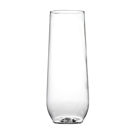 Stemless 10 Oz Clear Flute 6 Ct