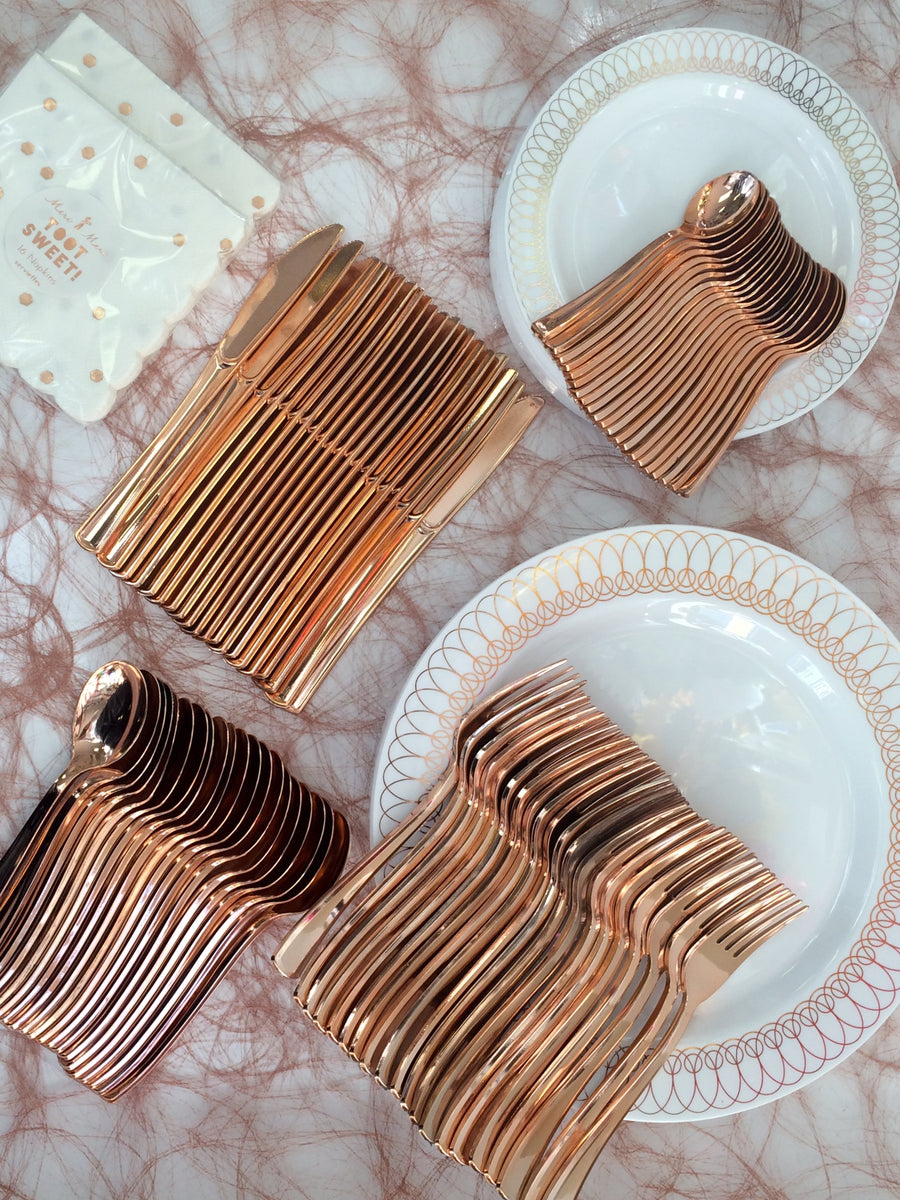 Rose Gold Cutlery , Mini Tea Spoons