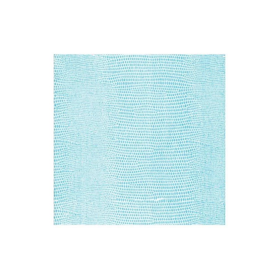 Lizard Paper Linen Cocktail Napkins in Turquoise - 15 Per Package