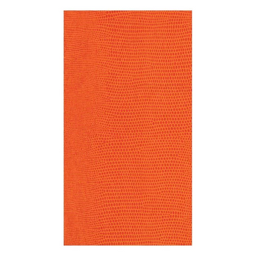 Lizard Paper Linen Guest Towel Napkins in Orange - 12 Per Package