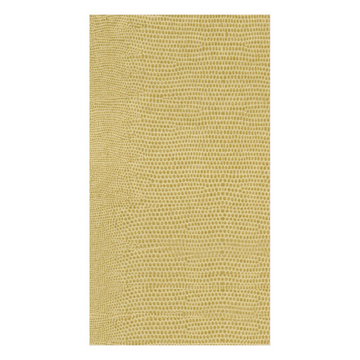 Lizard Paper Linen Guest Towel Napkins in Gold - 12 Per Package