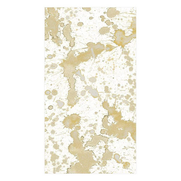 Splatterware Paper Guest Towel Napkins in Gold - 15 Per Package