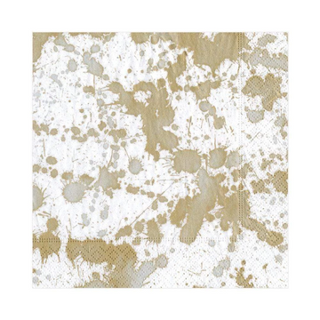Splatterware Paper Luncheon Napkins in Gold - 20 Per Package