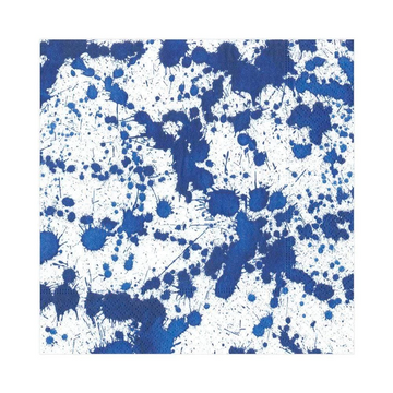 Splatterware Paper Luncheon Napkins in Blue - 20 Per Package