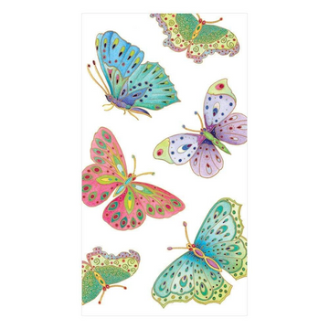 Jeweled Butterflies Paper Guest Towel Napkins in Pearl - 15 Per Package