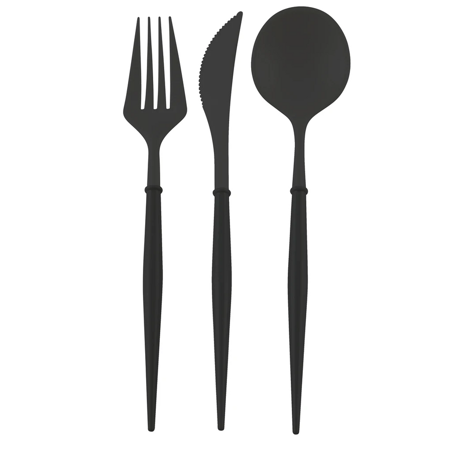 ALL BLACK BELLA 24PC ASSORTED FLATWARE