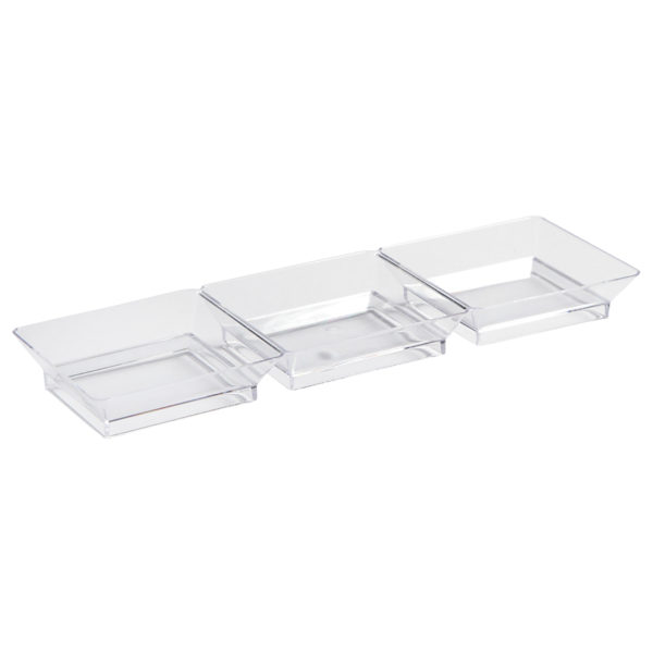 Mini Ware Clear Three Section Dish