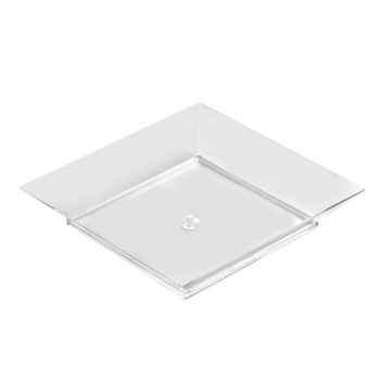 Mini Ware 3.5″ Square Clear Plate