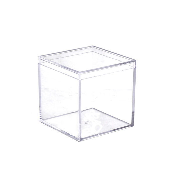 Mini Ware 2″ Clear Square Boxes With Lids