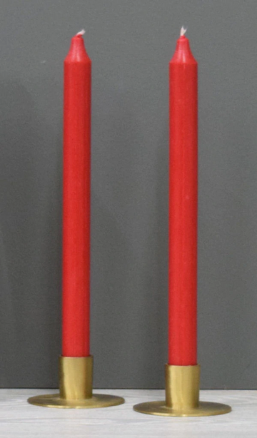 12'' Red Taper Candle