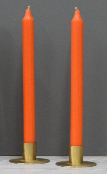 12'' Dark Orange Taper Candle