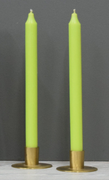 12'' Green Apple Taper Candle
