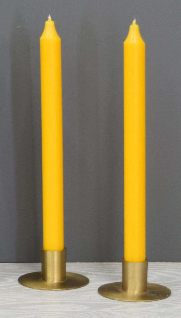 12'' Yellow Taper Candle