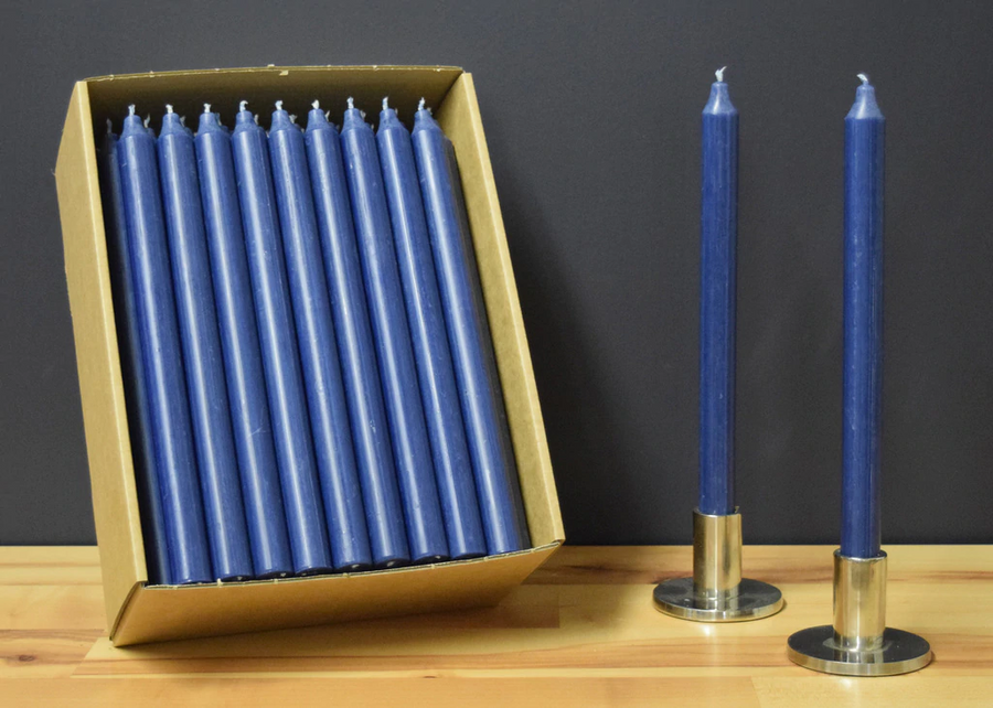 12'' Navy Blue Taper Candle