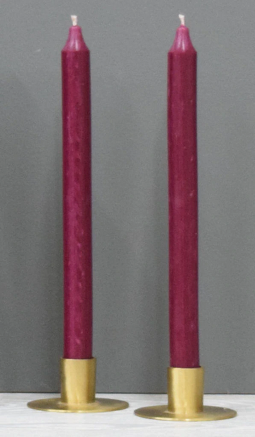12'' Plum Burgundy Taper Candle