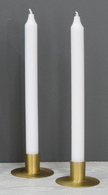 12'' White Taper Candle