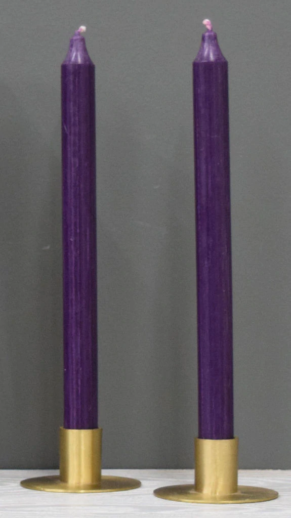 12'' Dark Lilac Taper Candle