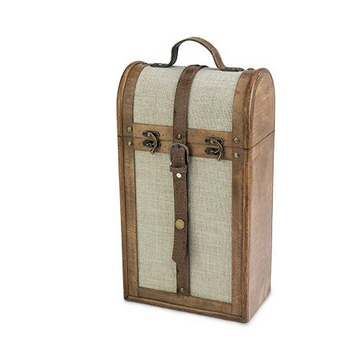 2-Bottle Vintage Trunk Wine Box