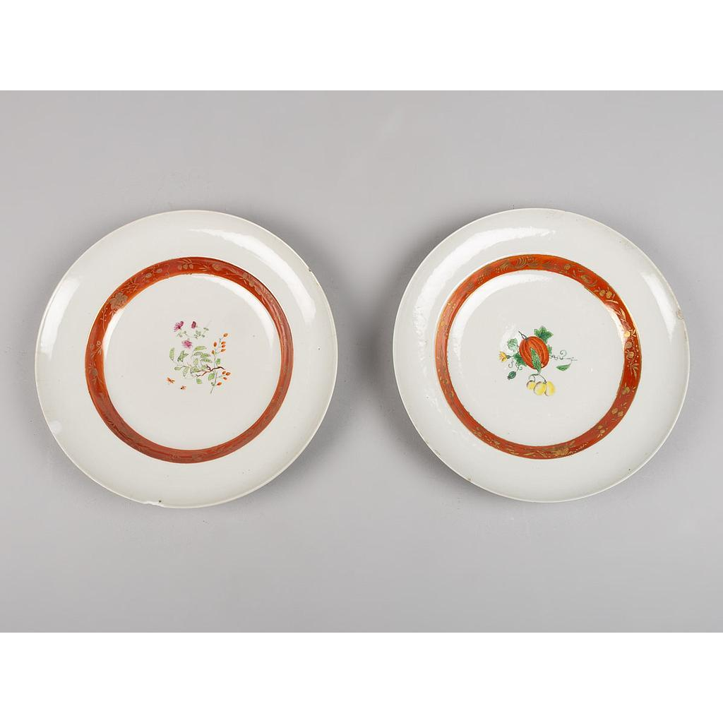 Par de Pratos Fundos em Porcelana da China Porcelana P55 - A segunda vida do Luxo