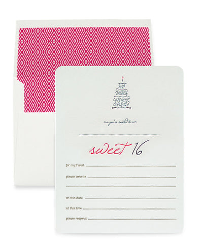 Sweet 16 Invitation Box Set