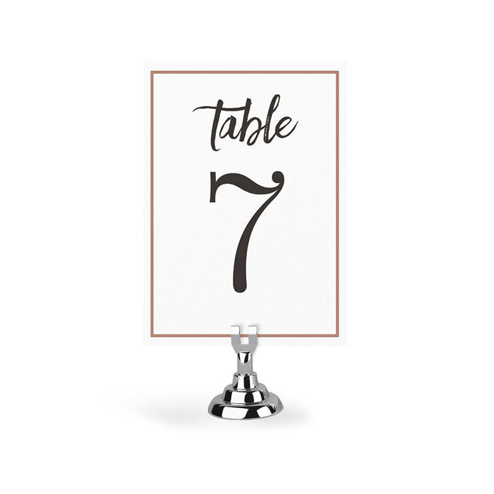 TABLE NUMBERS WITH BORDER