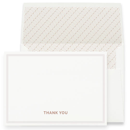 THANK YOU NOTES WITH BORDER