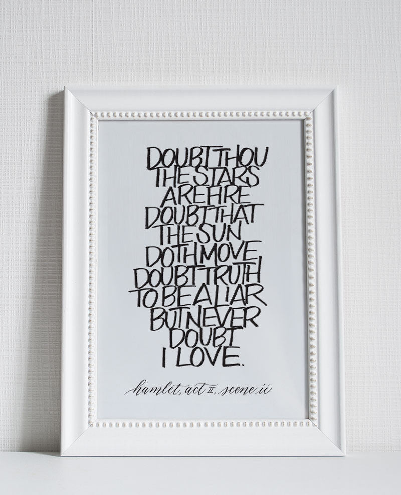 Letterpress Printed Poster - Never Doubt