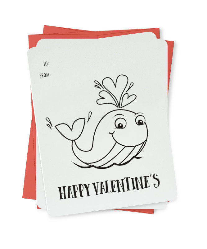 Whale, Colour me in Cards
