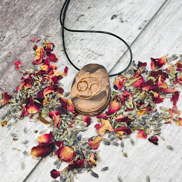 Cancer Zodiac Reiki Charged Pendant