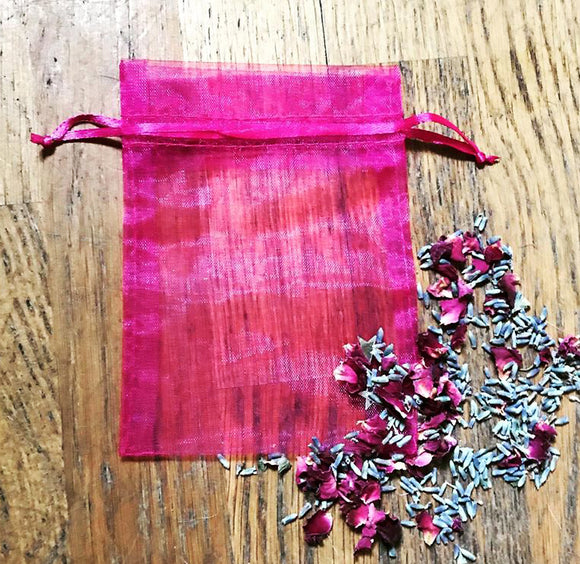 Wine Organza Bag Ideal For Crystals