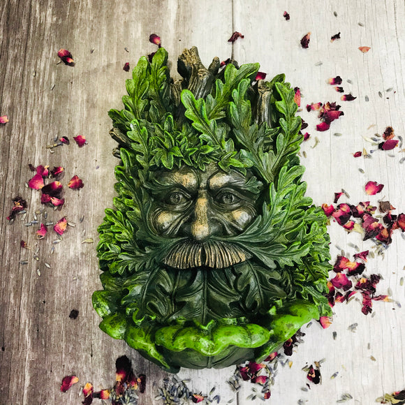 Wise Oak Green Man Wall Plaque