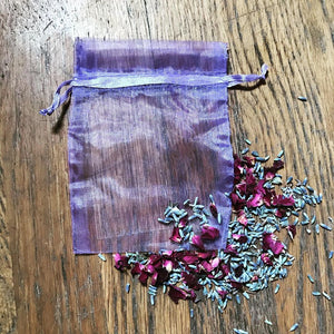 Lavender Organza Bag Ideal For Crystals