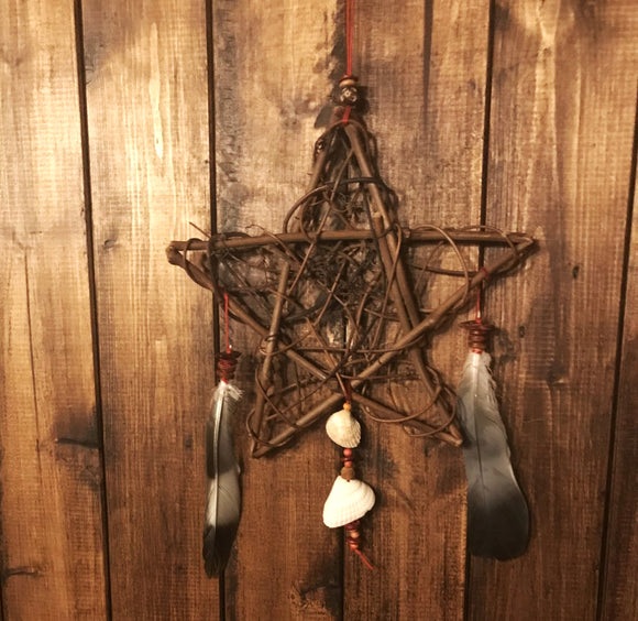 Handmade Natural Pentagram Dreamcatcher