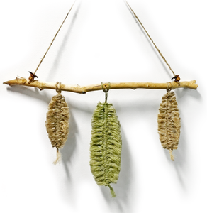 Driftwood And Jute Macrame Leaves Wallhanger