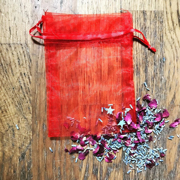 Red Organza Bag Ideal For Crystals