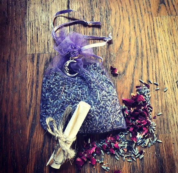 Reiki Charged Sleep Pouch Containing Lavender and Amethyst