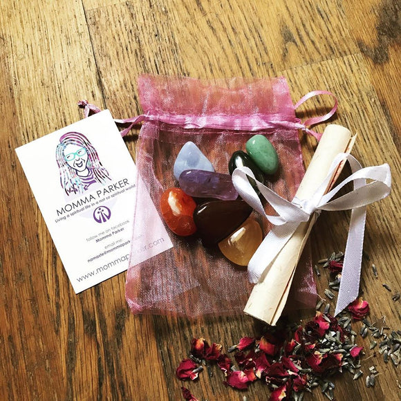 Chakra Crystal Healing Pouch