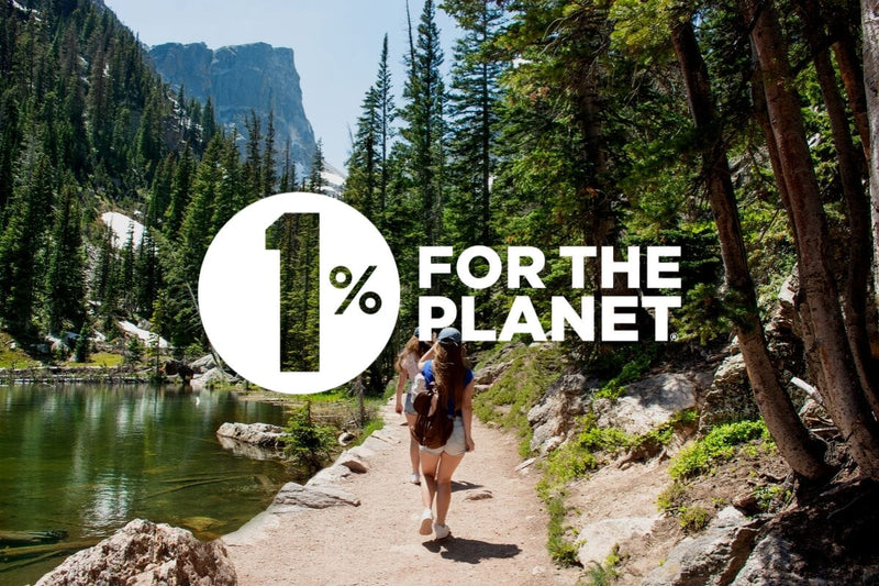 We donate 1% of our sales back to the environment