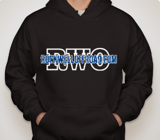 Rockwell Offroad Black Hoodie with Blue American Flag