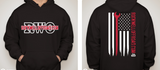Rockwell Offroad Black Hoodie with Red American Flag
